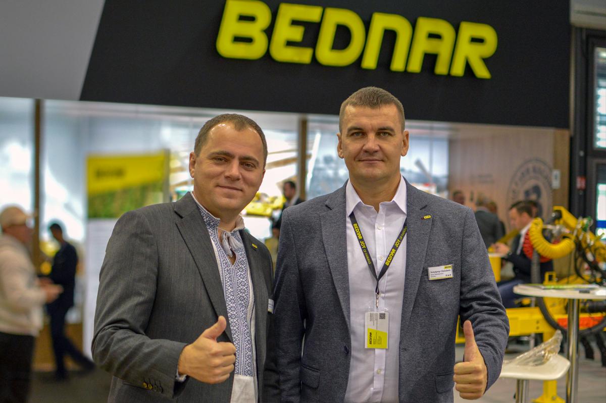 Михайло Кришко, комерційний директор Bednar FMT в Україні та Молдові, та Володимир Олексієнко, торговий представник Bednar FMT в Україні